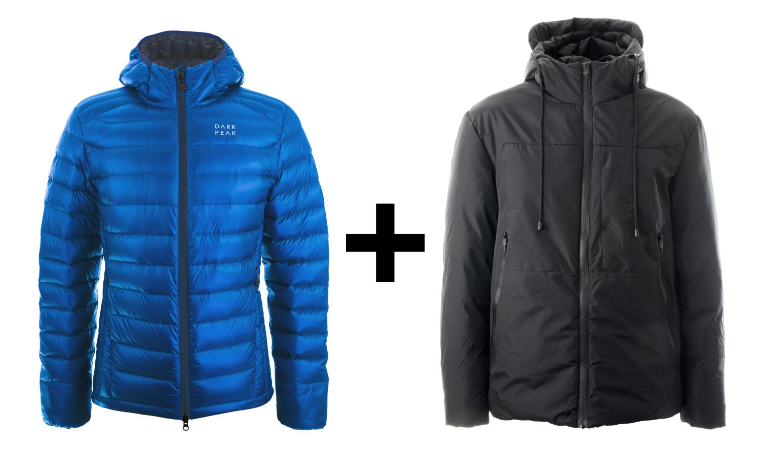 A Nessh Down Jacket with an equivalent jacket for a homeless person
